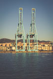 ALGECIRAS, SPAIN - MAY 1,2013: Container terminal in the industr Royalty Free Stock Photo
