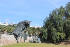 Algeciras, Spanje, straat, het stierenvechtenrodeo van de stierengevechtenrodeo Royalty-vrije Stock Fotografie