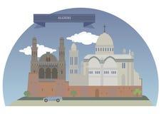 Algeirs, Argelia stock de ilustración