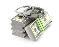 Algemas e dinheiro no fundo branco Ilustra??o 3d isolada ilustração do vetor