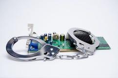 Algemas e placa de circuito Foto de Stock