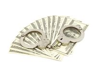 Algemas no fundo do dinheiro Fotos de Stock