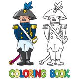 Algemeen of ambtenaar Kleurend boek vector illustratie