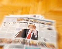 Algemeen Dagblad holländsk tidskrift Donald Trump Royaltyfri Fotografi