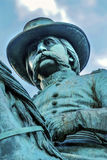 Algemeen John Logan Civil War Memorial Logan-Cirkelwashington dc stock foto
