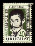 Algemeen Manuel Oribe, 2de constitutionele president van Uruguay Stock Fotografie