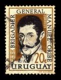 Algemeen Manuel Oribe, 2de constitutionele president van Uruguay Stock Foto