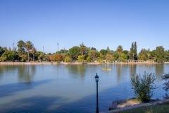 Algemeen San Martin Park Lake - Mendoza, Argentinië royalty-vrije stock fotografie