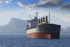 Algemeen vrachtschip: door:sturen zon Stock Afbeeldingen
