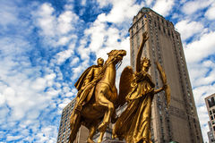 Algemeen William Tecumseh Sherman Monument in New York Stock Fotografie
