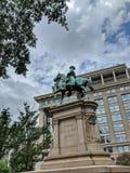 Algemeen Winfield Scott Hancock Equestrian Statue District van Colombia royalty-vrije stock afbeelding