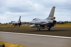 Algemene Dynamica F-16A het Vechten Valk bij NAVO Tiger Meet 2014 Stock Afbeelding