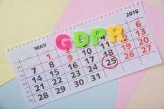 Algemene gegevensbeschermingregelgeving aangaande een document achtergrond en a.c. Royalty-vrije Stock Fotografie