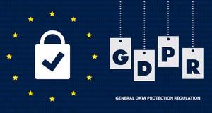 Algemene Gegevensbeschermingverordening GDPR Conceptenillustratie - 25 Mei 2018 Royalty-vrije Stock Foto