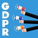 Algemene Gegevensbeschermingverordening GDPR Conceptenillustratie - 25 Mei 2018 Stock Foto