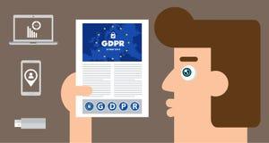 Algemene Gegevensbeschermingverordening GDPR Conceptenillustratie - 25 Mei 2018 Royalty-vrije Stock Afbeelding