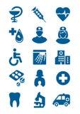 Algemene medische pictogrammen Stock Foto's