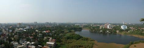 Algemene mening van de stad, Cochin (kochi), Kerala, Zuid-India Stock Foto's