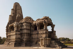 Algemene mening van de tempel Duladeo in Khajuraho Stock Foto's