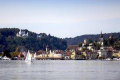 Algemene mening van Luzerne van het Meer Royalty-vrije Stock Foto's