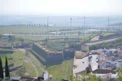 Algemene Meningen van de Ommuurde Stad in Elvas stock afbeeldingen