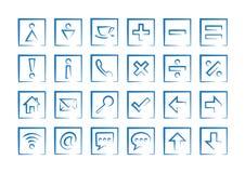 Algemene pictogrammen Stock Afbeeldingen