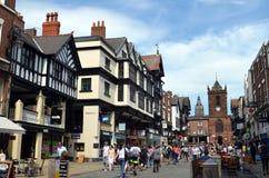 Algemene scène van goed - bekende stad Chester Chester, het UK, 3 Juli, 2015 royalty-vrije stock fotografie