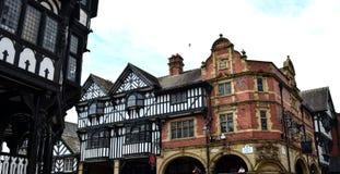 Algemene scène van goed - bekende stad Chester Chester, het UK, 3 Juli, 2015 royalty-vrije stock afbeeldingen