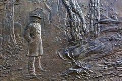 Algemene Sherman Fire Bas Relief Civil-Oorlogs Herdenkingswashington dc Stock Afbeelding