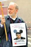 Algemene staking door banenhandeling wordt veroorzaakt in Italië dat Stock Foto
