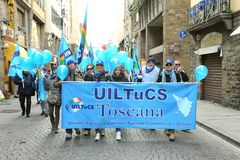 Algemene staking op 12 van December 2014 in Florence, Italië Royalty-vrije Stock Foto