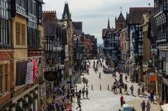 Algemene straatscène in Chester stock fotografie