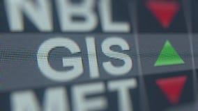 Algemene ticker van de Molensgis voorraad, conceptuele redactie loopable animatie stock videobeelden