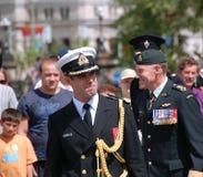 Algemene Walter Natynczyk en Admiraal Thibault Stock Afbeeldingen