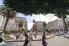 ALGER, ALGÉRIE - 24 SEPTEMBRE 2016 : Le monument Emir Abdelkader ou Abdelkader El Djezairi était Algérien prairie religieuse et m image stock