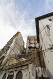ALGERI, ALGERIA - 6 FEBBRAIO 2016: Una parte antica di vecchia città dell'Algeria, chiamata casbahkasaba La vecchia città è di 12 Fotografia Stock