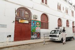 ALGERI, ALGERIA - 6 FEBBRAIO 2016: Una parte antica di vecchia città dell'Algeria, chiamata casbahkasaba La vecchia città è di 12 immagini stock