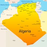 Algeria. Abstract vector color map of Algeria country Royalty Free Stock Images