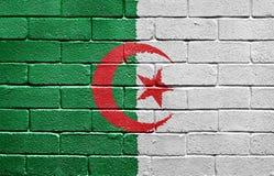algeria cegły flaga ściana royalty ilustracja