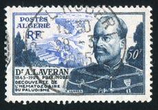 Alphonse Laveran Algeria printed stamp Royalty Free Stock Images