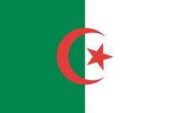 Algeria flag. Algeria / Algerian vector flag illustration Royalty Free Stock Images