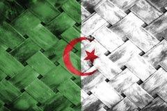 Algeria flag, flag on the wood.  Stock Images