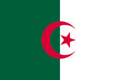 Algeria flag flat. Algeria flag. National current flag, government and geography emblem. Flat style vector illustration Royalty Free Stock Photography