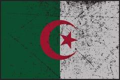 Algeria Flag Grunged. A grunged Algeria flag design Stock Photography