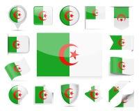Algeria Flag Vector Set. Algeria Flag Set - Vector Illustration Royalty Free Stock Photo