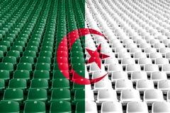 Algeria flag stadium seats. Sports competition concept. Algeria flag stadium seats. Sports competition concept stock images