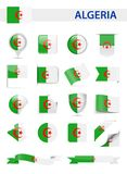 Algeria Flag Vector Set. Algeria Flag Set - Vector Illustration Stock Image
