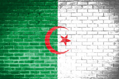 Algeria flag,wall texture background.  Royalty Free Stock Photo