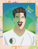 Algeria football fan Stock Photo