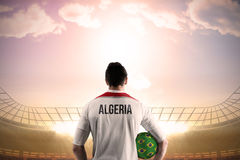 Algeria football player holding ball Royalty Free Stock Photos